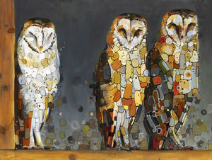 •Three Barn Owls-SOLD